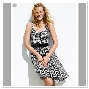 WHBM Zigzag Print Dress